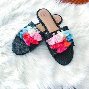 A New Day Tassel Sandals 8